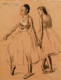 study of two dancers by edward barnard lintott