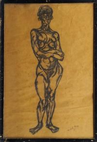 standing nude by lászló moholy-nagy
