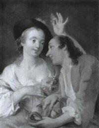 scene galante by giuseppe de angelis