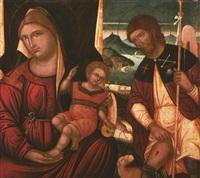madonna col bambino e santi by joannes permeniates