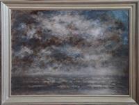 marine au ciel orageux by louis artan de saint-martin