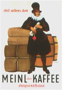 meinl kaffee importhaus (on 4 joined sheets) by otto exinger