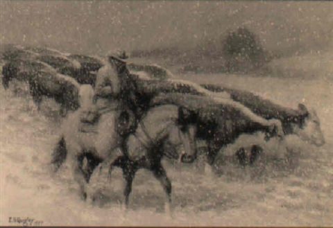 snow storm by edward burns quigley