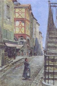 gade i den sydfranske by montferrand by emilio vasarri