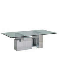 cityscape dining table, pe 631 by paul evans
