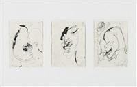 ohne titel (3 works) by siegfried anzinger
