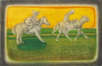 untitled (pony ride) by richard artschwager