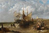 Fischmarkt an der englischen Küste, 1855