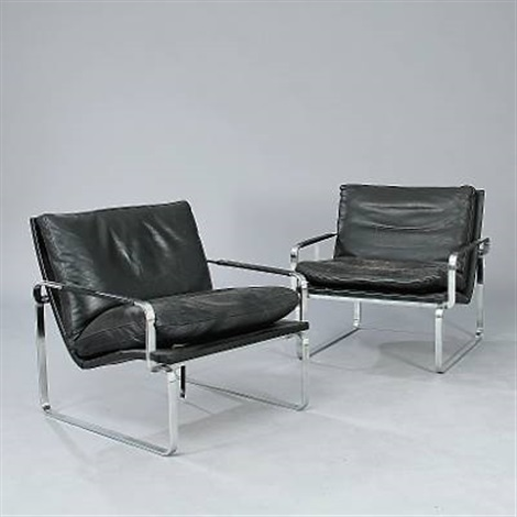 bo-911 easy chairs (pairs) by ole larsen and jørgen lund & Bo-911 easy chairs pairs by Ole Larsen and Jørgen Lund on artnet