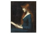 portrait of woman by jean jacques henner