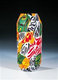 seltene vase ''murrine fine canna'' by ermanno toso