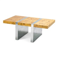 cityscape dining table, pe 411 by paul evans