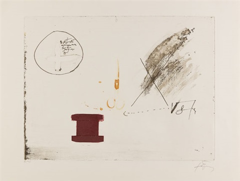 ohne titel from llull tàpies by antoni tàpies