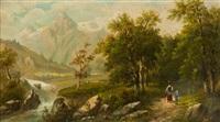 paesaggio con figure by a. melzer