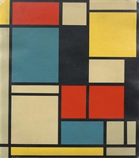 composition in blue, red and yellow by piet mondrian