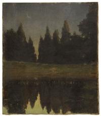 moonlit pond by harold c. dunbar