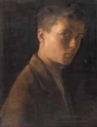 porträt eines jungen mannes by albert (lindegger) lindi