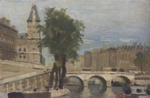 le pont neuf by adolphe valette