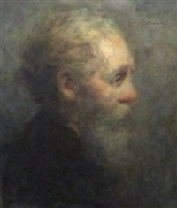 portrait of a older man turned to the right by haralambos potamianos