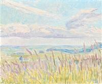 landscape with reeds by viggo rorup