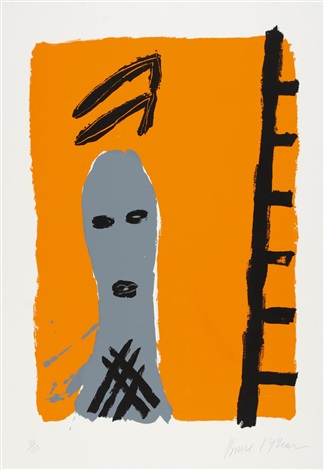 ohne titel (+ a fireplace for a film, lrgr; 2 works) by bruce mclean