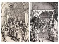 beschneidung christi, tod mariae (2 works) by albrecht dürer