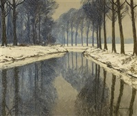 winter an der erft by maximilien (max) clarenbach