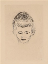 portrett av andreas schwarz by edvard munch