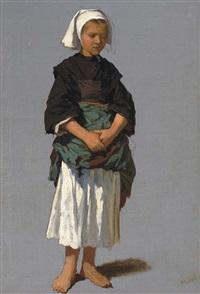 jeune fille à la coiffe by théodore valerio