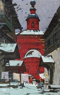 ansicht von st. petersburg by mikhail alexandrovich kaneev