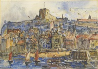 whitby harbour by rowland henry hill