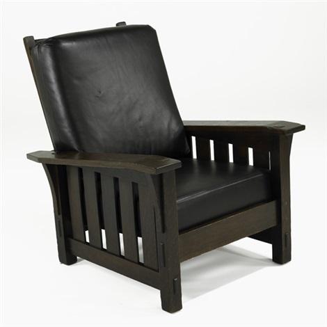 drop-arm morris chair (no. 369) by gustav stickley