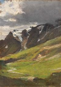 paesaggio montano by lorenzo delleani