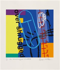 an overshrugged shoulder (+ a stab in the back; 2 works) by bruce mclean