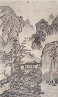 山水 (landscape) by leng mei