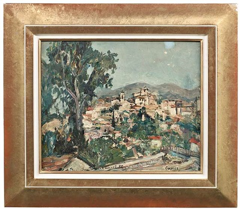 blick auf cagnes sur mer by maurice hennel