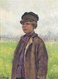 pojke på blommande äng by ivan kuzmich fyodorov