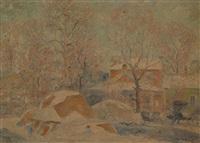 a snowy landscape by albert h. krehbiel