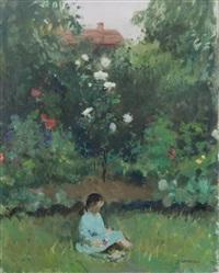 bimba in un paesaggio by renato vernizzi