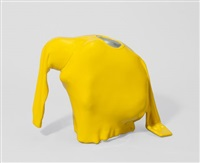 ohne titel (man hiding in pullover) by erwin wurm