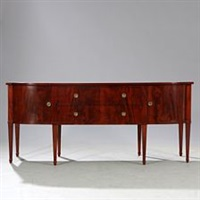 mahogany sideboard with tapering profiled legs by frits henningsen
