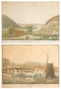 porta westfalica und minden (2 works) by anton wilhelm strack