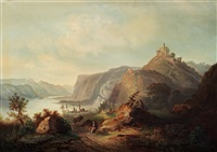 italian landscape from via appia with st by hilda lindgren
