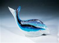 fischförmiges schalenobjekt ''reticello'' by dino martens