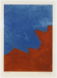 composition rouge et bleu by serge poliakoff