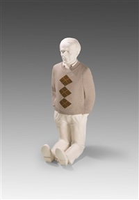 deleuze kneeling down by erwin wurm