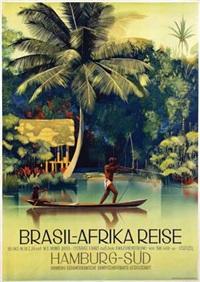 hamburg-südamerikanische dampfschifffahrts-gesellschaft brasil-afrika reise by ottomar anton