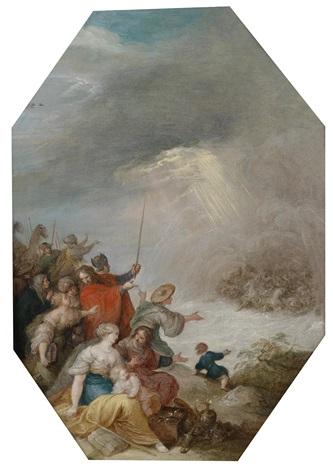 die israeliten nach der durchquerung des roten meeres by frans francken the younger