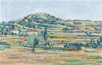 sommerliche landschaft in der provence by jean-louis piguet