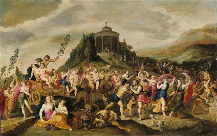 der triumph des bacchus by frans francken the younger